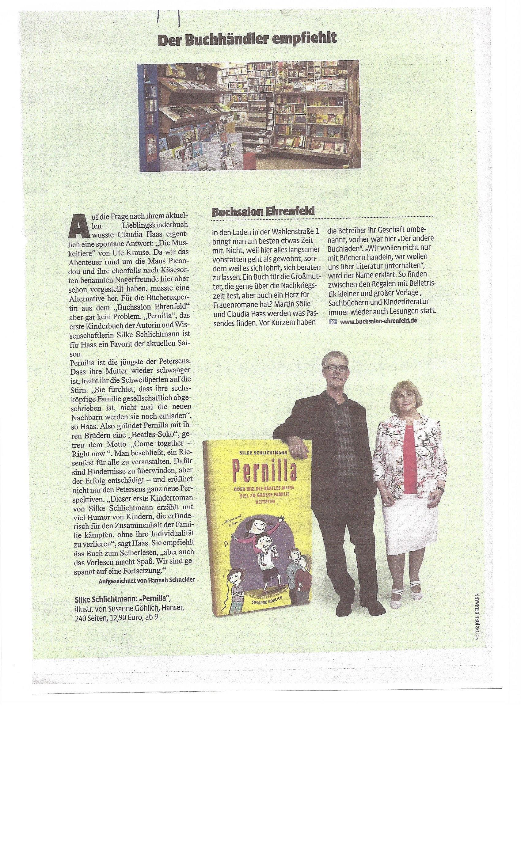 Buchbeilage im Kölner Stadtanzeiger vom 12.06.2015